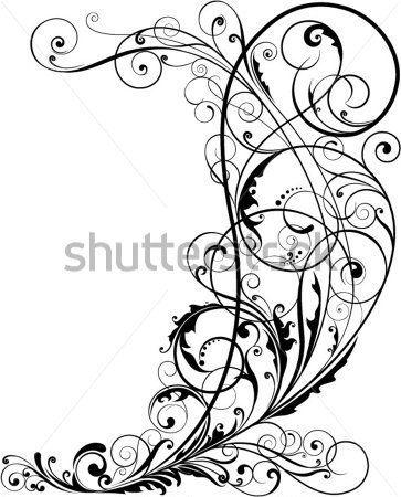 Floral DE Ornamentos DE Design Floral, Pretos clip arts - ClipartLogo.com
