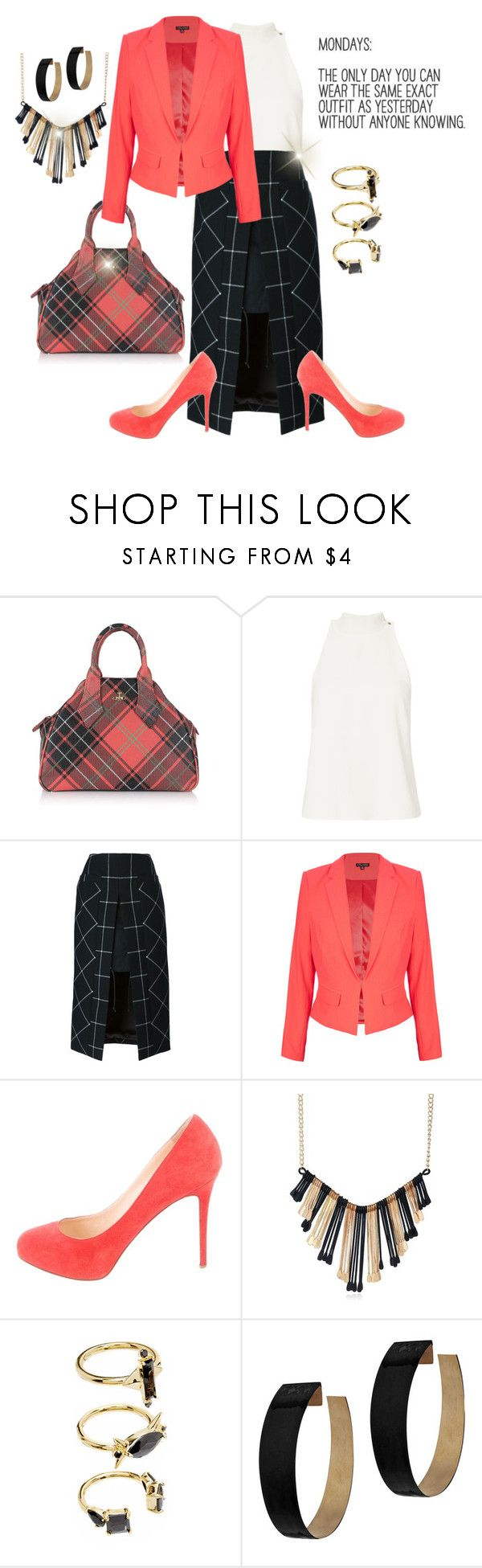"""""""Case of the Mondays"""" by jfcheney ❤ liked on Polyvore featuring Vivienne Westwood, A.L.C., Sacai, City Chic, Christian Louboutin, Noir Jewelry and Zimmermann"""
