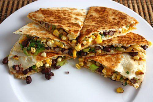 Corn and Black Bean Quesadillas