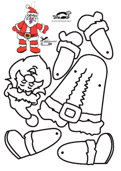 KROKOTAK PRINT! | printables for kids   SANTA ORNAMENT