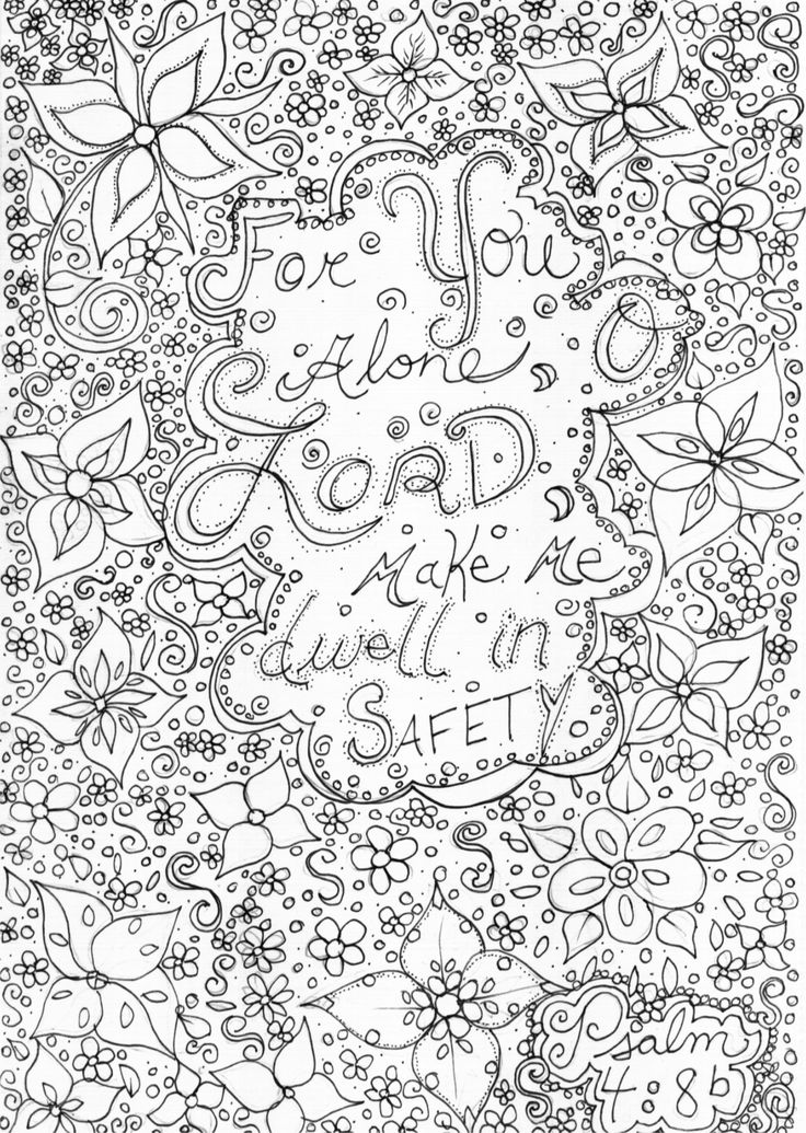 Coloring Pages For Teens Give Thanks To The Lord Fofr He