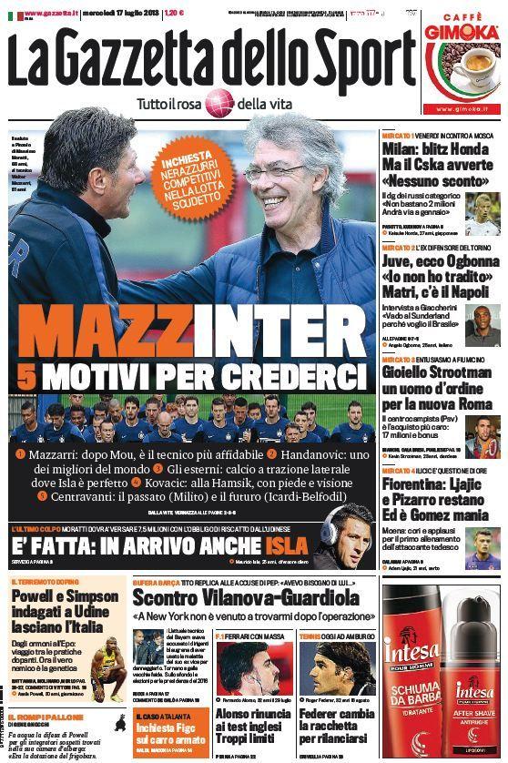 La Gazzetta dello Sport (17-07-13) Italian | True PDF | 36 16 pages | 12,73 5,57 Mb