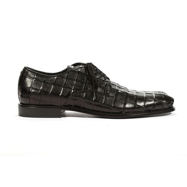 Cesare Paciotti Mens Oxfords Black Nappa Plisse Shoes (CPM5443)