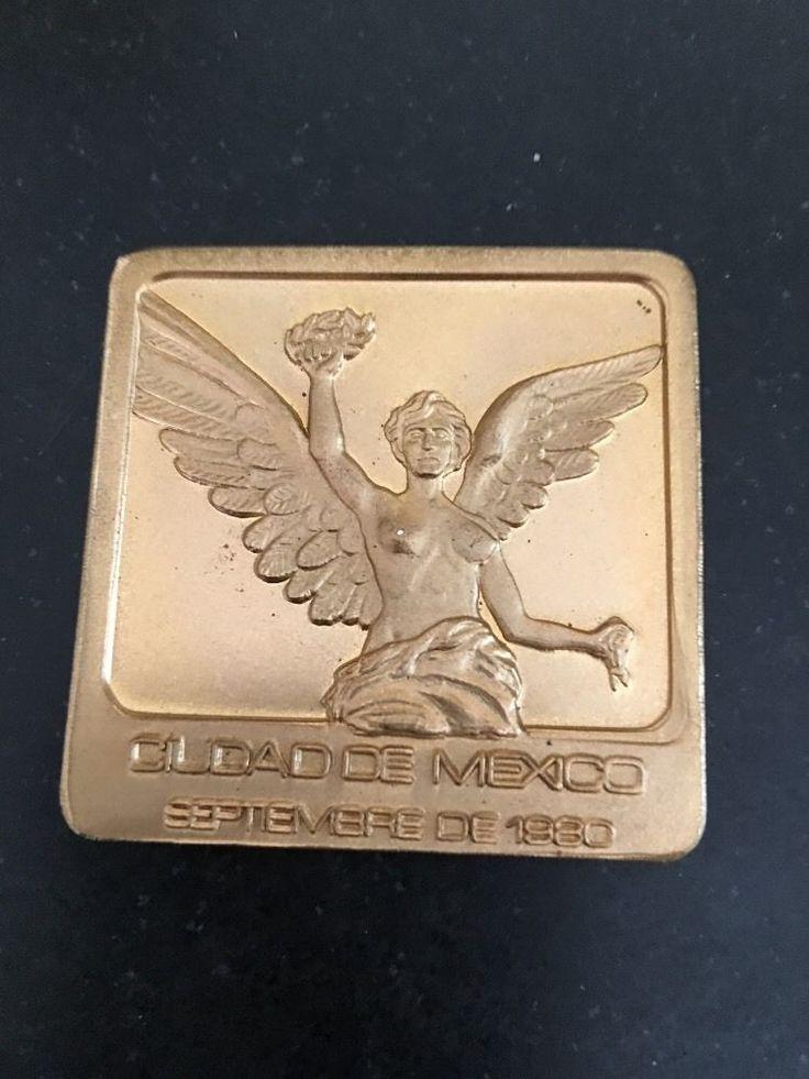 Ciudad De Mexico 1980 Fuente De Cub else Plaza De Madrid Medal Paperweight   | eBay