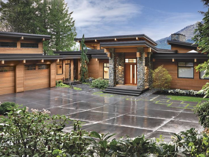 Contemporary Neutral Exterior with Cedar Facade | LuxeSource | Luxe Magazine - The Luxury Home Redefined