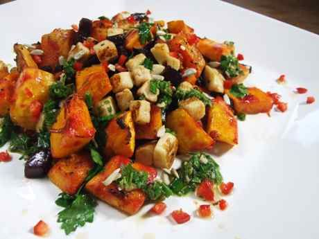 Beetroot, Squash and Halloumi with Chilli-Herb Dressing