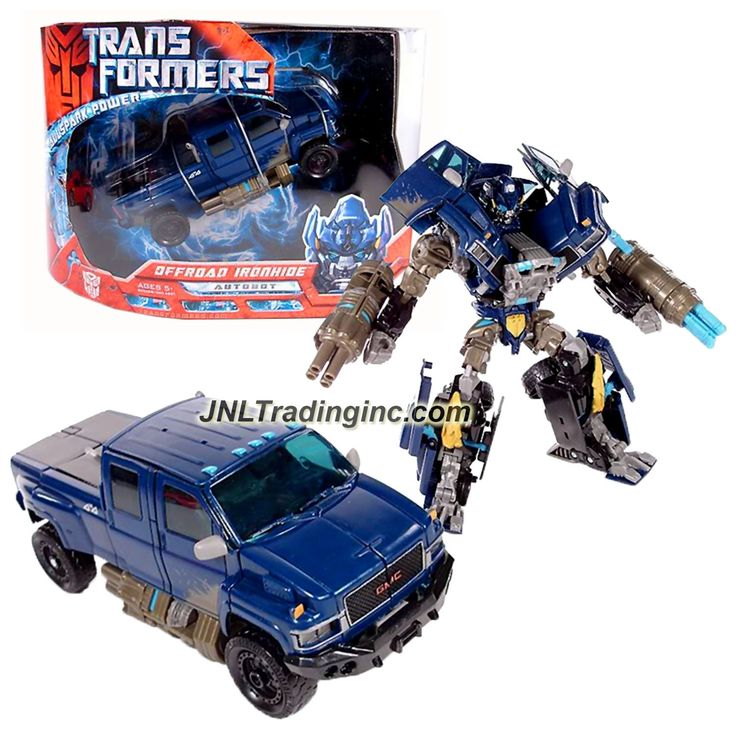 "Hasbro Transformers 1st Movie All Spark Power Series Voyager Class 7"" Tall Figure - OFFROAD IRONHIDE with Quad-Missile Cannons (Vehicle: GMC Topkick)"