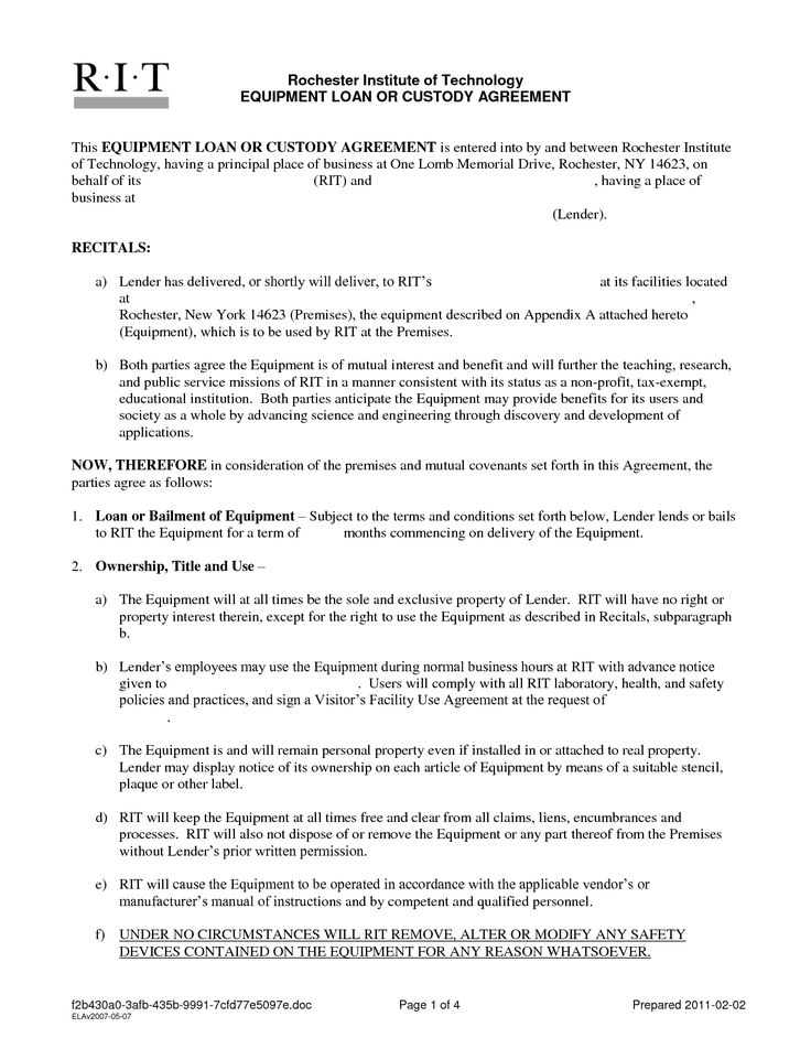 Mortgage Contract Templates Loan Agreement Template Loan Contract