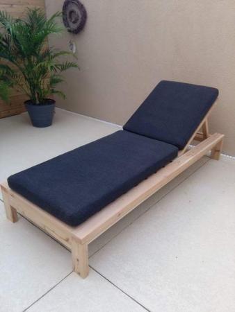DIY modern outdoor lounge chair
