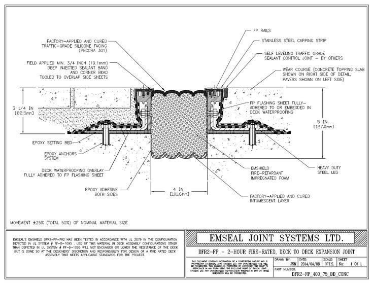 Deck To Deck Expansion Joint Fire Rated Detail