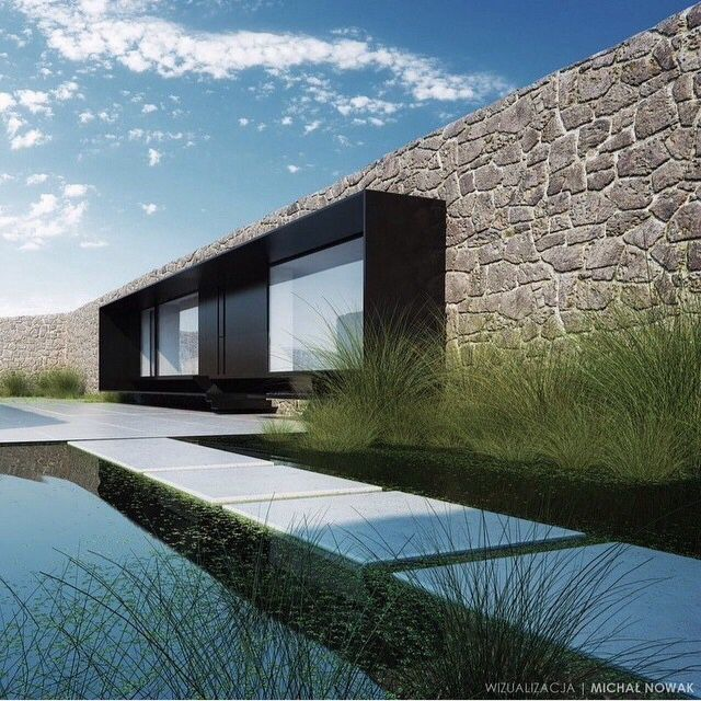 /_great house design, the stone creates a natural but rustic element yet contemporary feel and look__