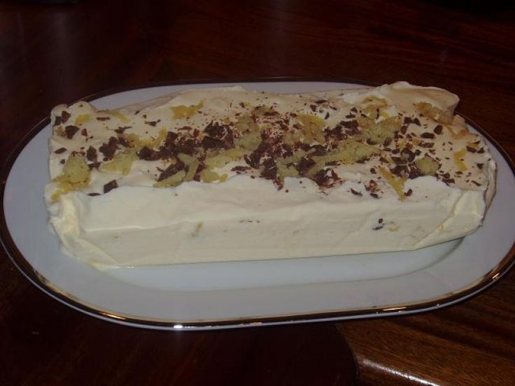 Is med marcipan & chokolade stykker, Danmark,Valentins dag, Dessert, Desserter, opskrift