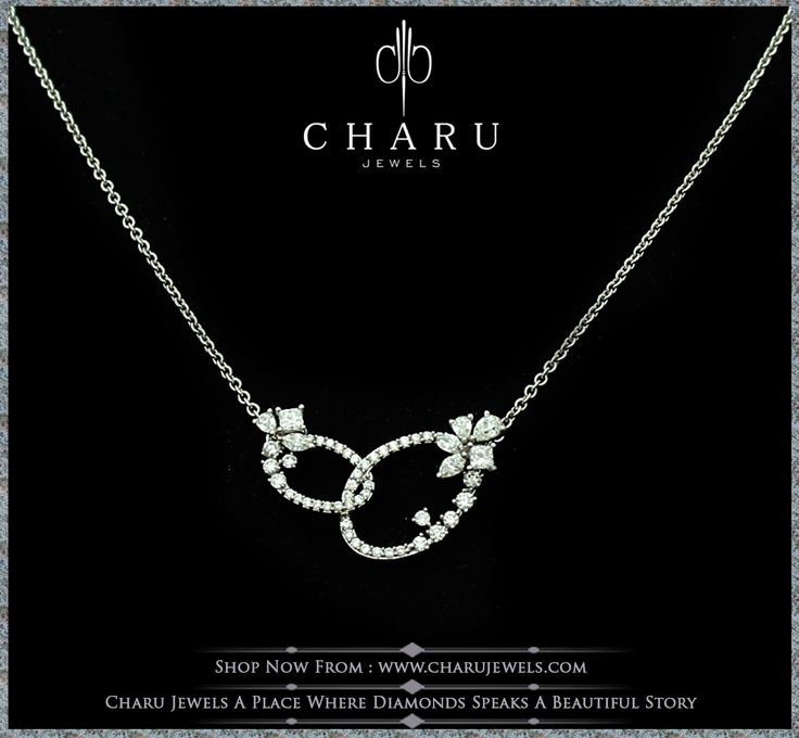 #fusion and #fashion #jewelry for #routine wear.  #real #diamond #charu #jewels #pendent #chain #necklace