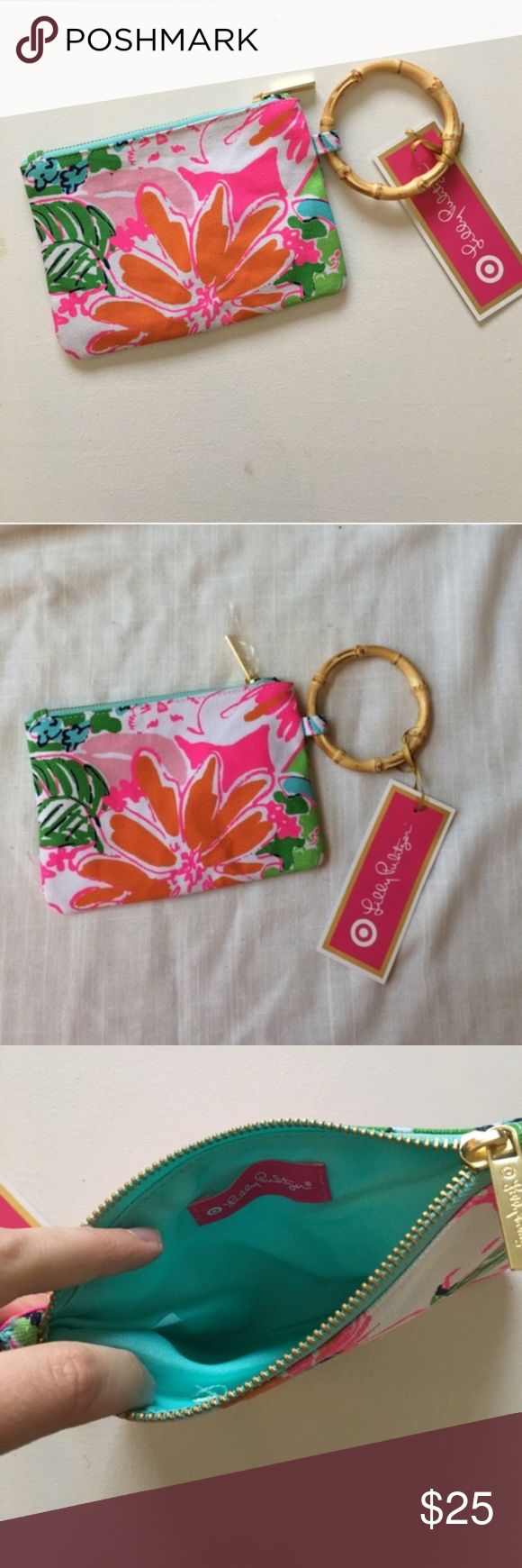 BRAND NEW Lilly Pulitzer Bamboo Wristlet Brand: Lilly Pulitzer for Target    Condition: Brand new with tags (stored in brand new plastic bin since original purchase)    Color: Multi     Price is firm. Lilly Pulitzer for Target Bags Clutches & Wristlets