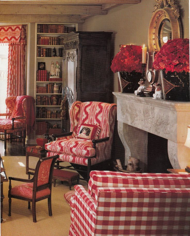 French Living Rooms Red French Country Decorating Livingroom