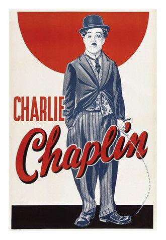Posters Filmes de Charlie Chaplin / Carlitos - 4 Variantes