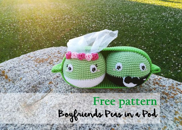 Free pattern amigurumi. Boyfriends peas in a pod. Wedding. Marriage.