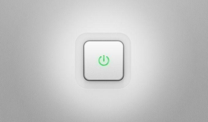 Power Button - 365psd #freebie