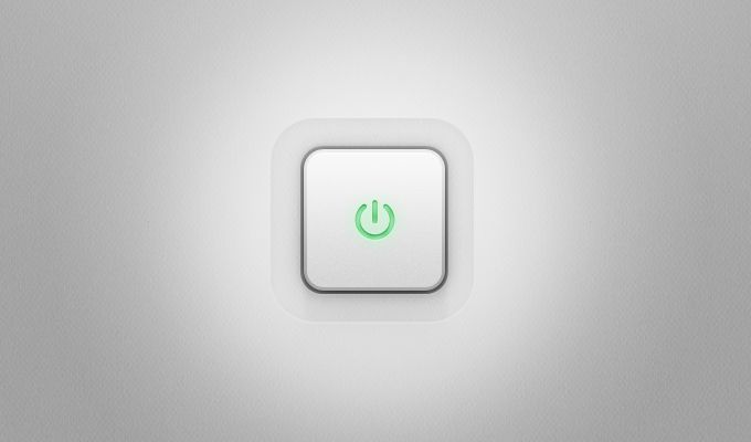 Power Button - 365psd #freebie