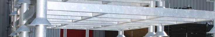Stapelrekken van Steel Constructions zijn dé oplossing voor de opslag en het vervoer van zware materialen op een relatief kleine oppervlakte.