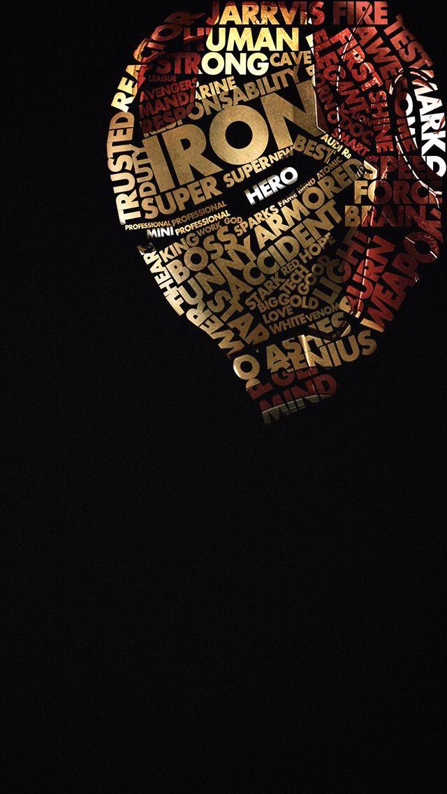 Words Iron Man iPhone 5 wallpaper ไอรอนแมน, พื้นหลัง