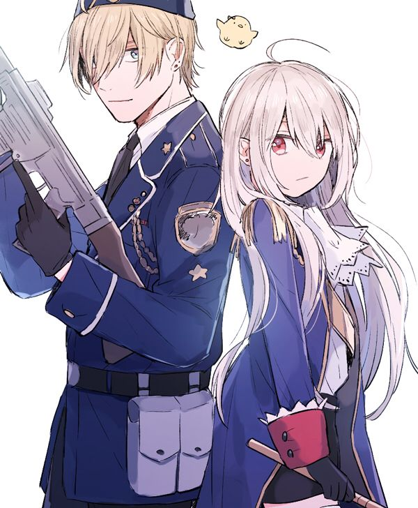 Hetalia fem!prussia and somebody else I don't know -- He looks like Luxembourg, but i'm not sure :v
