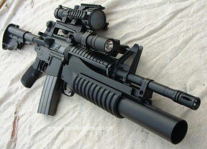 M4 carbine with grenade launcher