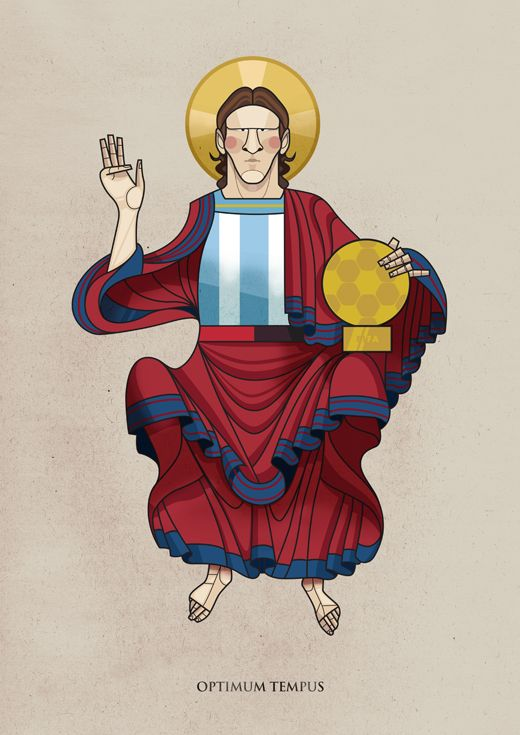 Messi by Jorge Lawerta, via Behance