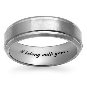 jesses band mens wedding band titanium
