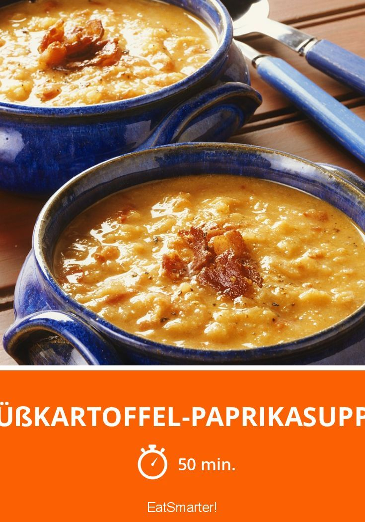 Süßkartoffel-Paprikasuppe | http://eatsmarter.de/rezepte/susskartoffel-paprikasuppe