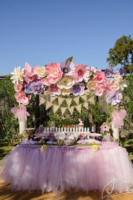 Amazing Party Table at a Butterfly Garden Party.  See more party ideas at CatchMyParty.com. #gardenpartyideas