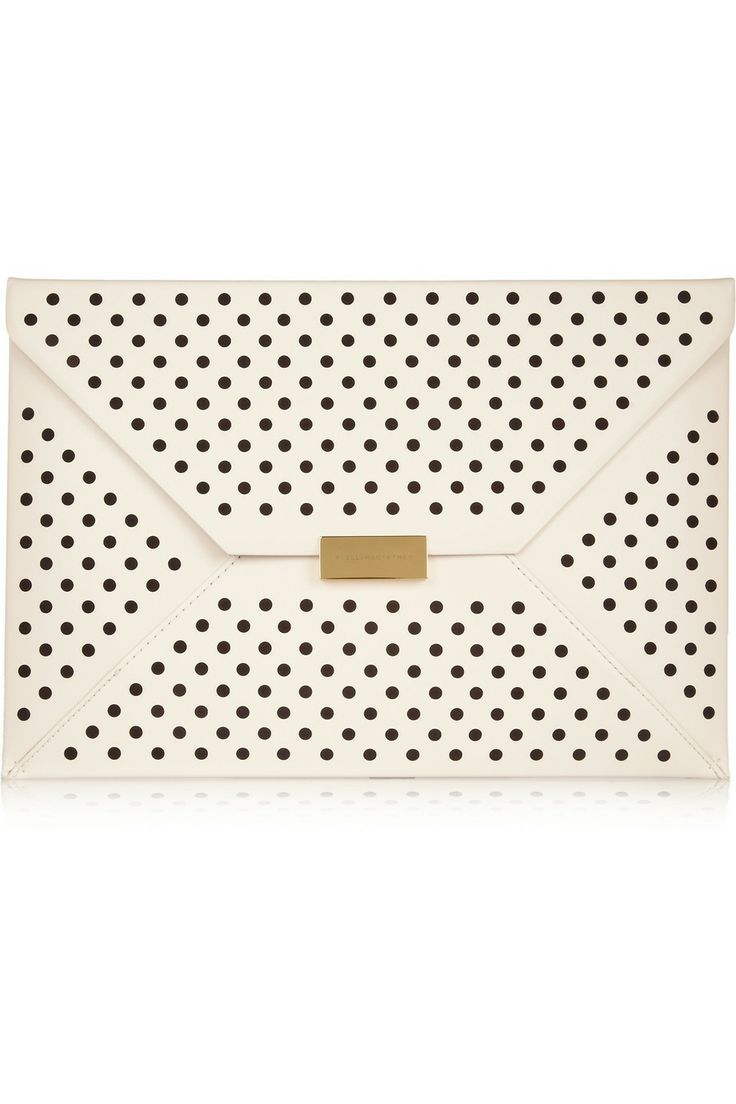Stella McCartney|Beckett perforated faux leather clutch