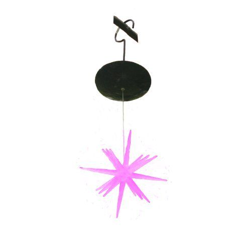 "Mr. Light Single Solar Hanging Color-Changing Moravian Starburst LED Lights, 8-Inch by Mr. Light. $49.99. Cloudy-day solar works even on cloudy days. Includes 3 aa rechargeable batteries and super-efficient solar panel. Includes 3 AA rechargeable batteries & super-efficient solar panel. Cloudy - Day Solar! Works even on cloudy days!. Easily hung with included hook from your rain gutter, or roof eave. Slow-color-changing solar-powered extra large 8"" acrylic starburst w..."