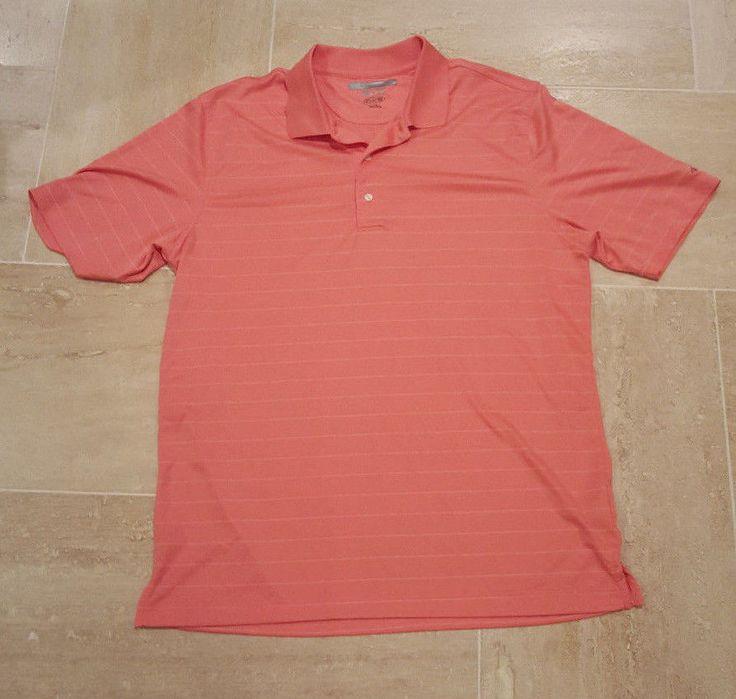 Greg norman ml75 coral melon salmon w stripe shirt play for Greg norman ml75 shirts
