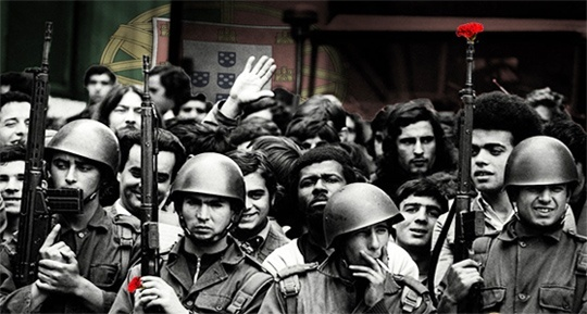 "April 25, 1974 – Carnation Revolution: A leftist military coup in Portugal overthrows the fascist ""Estado Novo"" regime and establishes a democratic government (IV)"