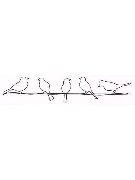 Bird on a wire wall art