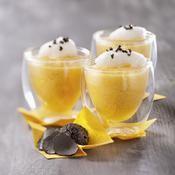 Mousse de potimarron, émulsion de truffe - une recette Soupe - Cuisine