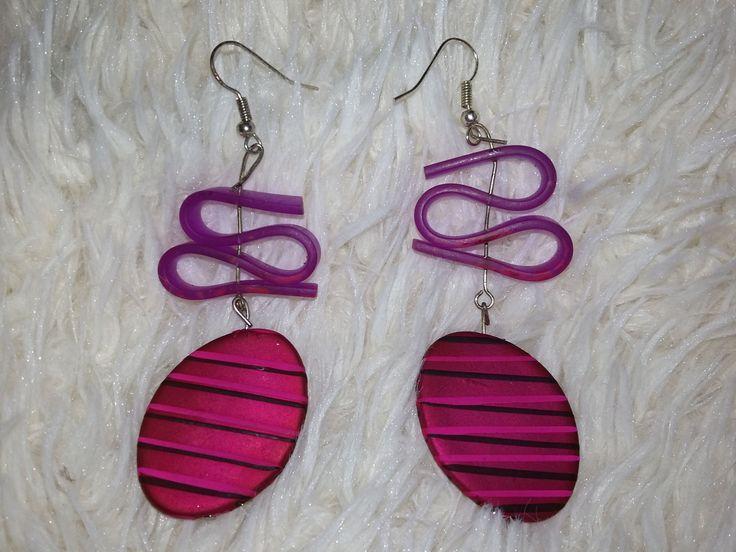 pink earings by AtticDisir on Etsy