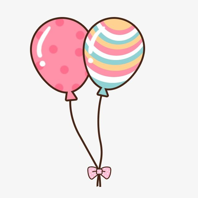 Balloon cartoon. Clipart baby album fonts