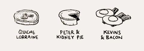 Cartoons drawn by Tom Chitty