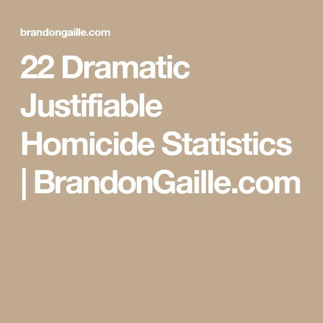 22 Dramatic Justifiable Homicide Statistics | BrandonGaille.com