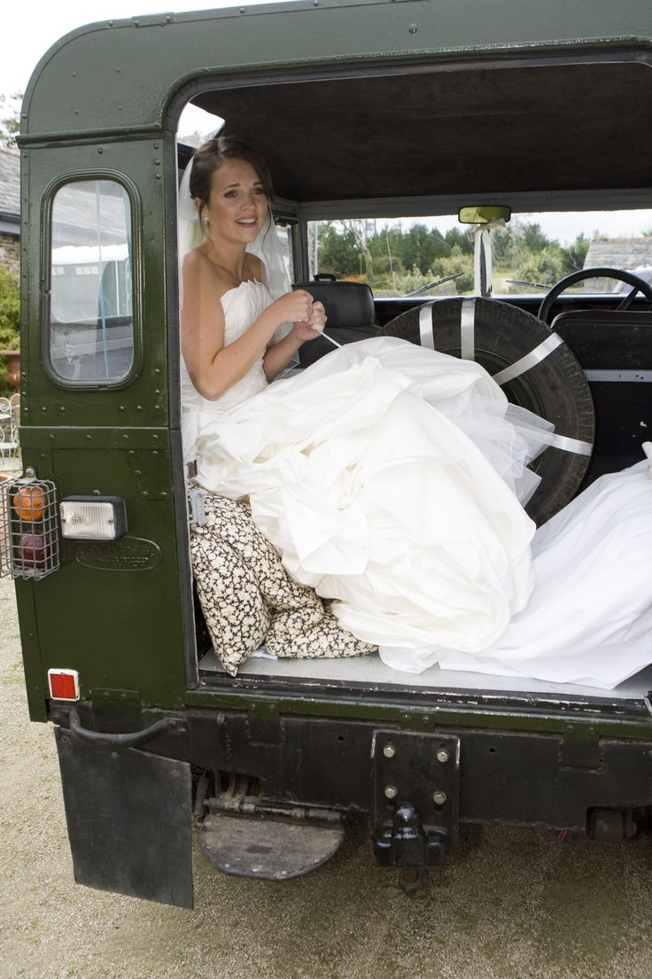 Bride on her way to church,St Enodoc Cornwall.