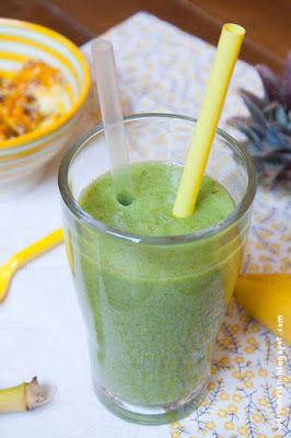 Wos zum Essn: Woah, voi guad! Mein erster grüner Smoothie mit Banane, Ananas und Radieschengrün