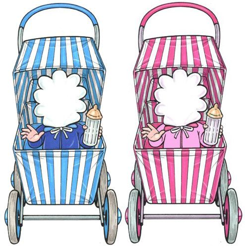Baby Carriage Cutout / Perfect for a baby shower