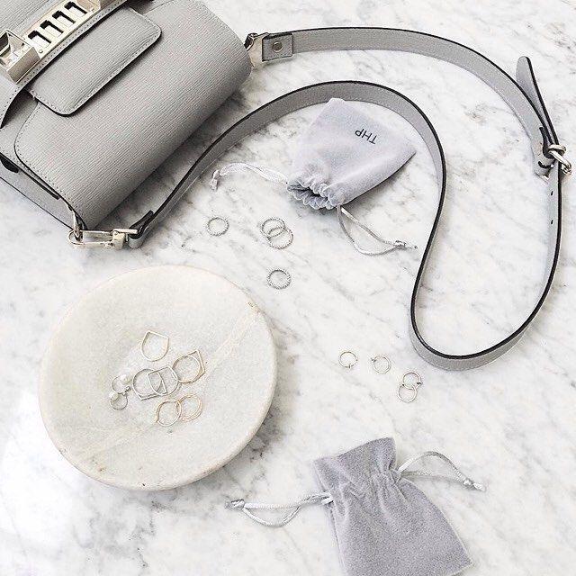 Total grey.  #grey #total #totalgrey #bag #luxury #rings #fashionblogger #fashion #blogger #still #life #fashionable #glamorous