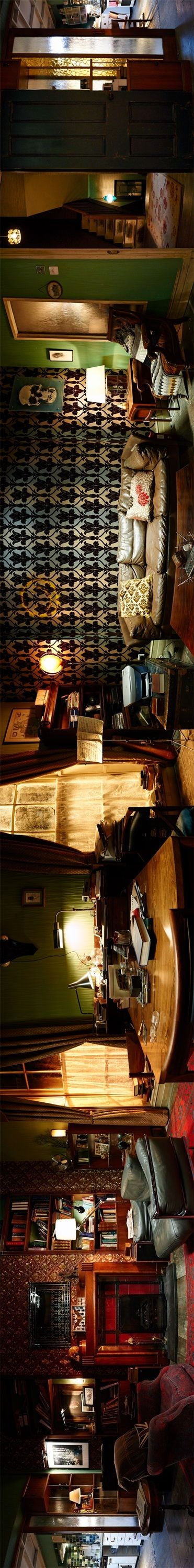 Beautiful panorama of Sherlock's apartment.