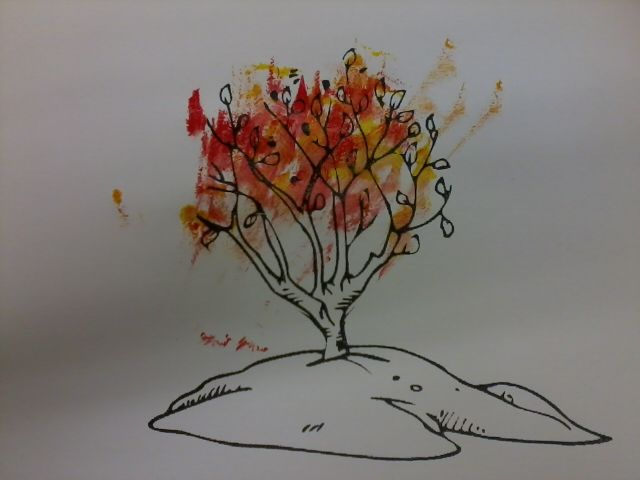 moses and the burning bush paint with red and yellow sunday school pinterest burning. Black Bedroom Furniture Sets. Home Design Ideas