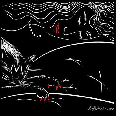 """Saatchi Online Artist Phyllis Mahon; Printmaking, """"""""M"""" is for Mischief!"""" #art"""