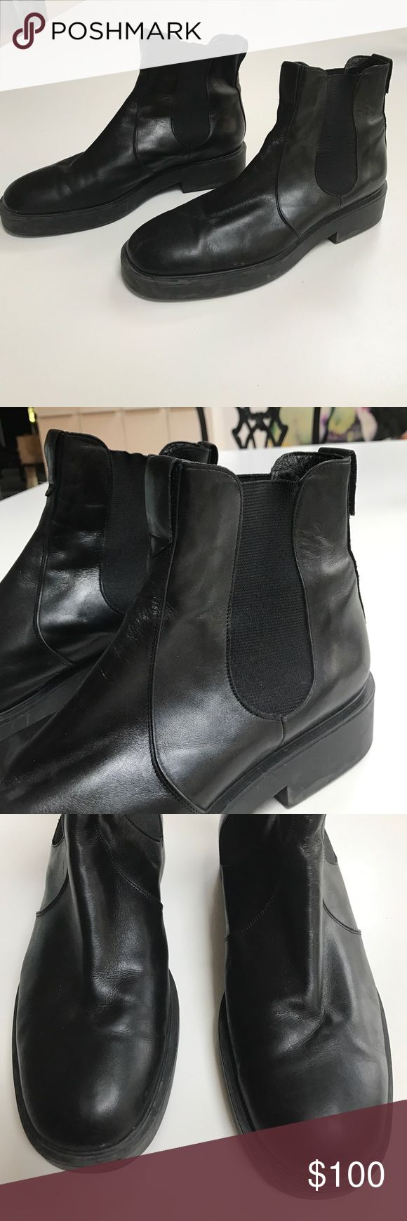 Vintage Stephane Kélian Black Leather Chelsea boot Great classic black leather boot. 1.25 inch rubber heel with a .75 inch platform. Extremely comfortable, utilitarian boot! Size 9 but also will fit a 9.5 Stephane Kélian Shoes Ankle Boots & Booties