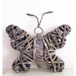 Dekorace - Ratanový motýl
